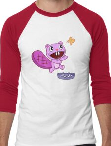 Happy Tree Friends - T-Shirt - Toothy Butterfly. Men's Baseball ¾ T-Shirt