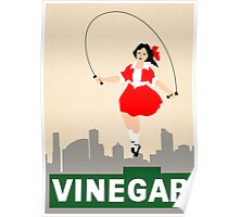 Skipping Girl Vinegar Poster
