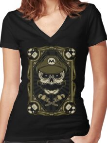 Dead Plumber Women's Fitted V-Neck T-Shirt