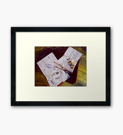 Hello the Universal Framed Print