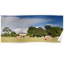 irish countryside rural nature farm hay scenic landscape nature Poster