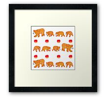Hungry bear family Framed Print