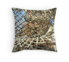 Cley Beach Crabpots Vortex  Throw Pillow