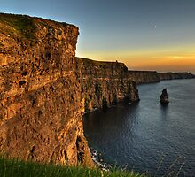 cliffs of moher scenic sunset landscape seascape ireland by upthebanner