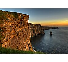 cliffs of moher scenic sunset landscape seascape ireland Photographic Print