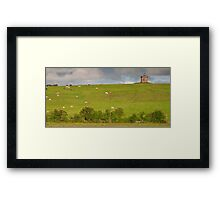 rural ireland scenic nature cows countryside landscape Framed Print