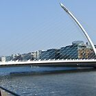 Samuel Beckett Bridge Cityscape Skyline Dublin Ireland by upthebanner