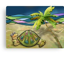 Vacationing Turtle Canvas Print