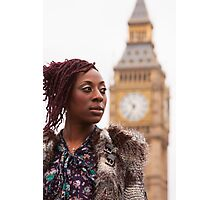 Girl and Big Ben Photographic Print