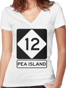 NC 12 - Pea Island Women's Fitted V-Neck T-Shirt
