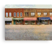 On The Left Side Of The Street Canvas Print