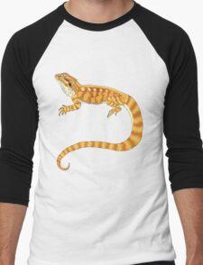 bearded dragon watercolour  Men's Baseball ¾ T-Shirt