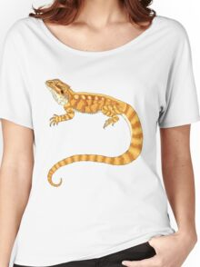 bearded dragon watercolour  Women's Relaxed Fit T-Shirt