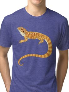 bearded dragon watercolour  Tri-blend T-Shirt