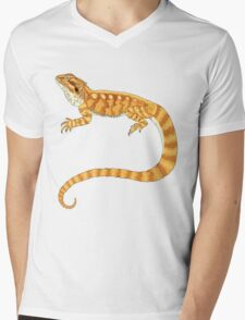 bearded dragon watercolour  Mens V-Neck T-Shirt