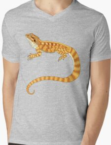 bearded dragon watercolour  Mens V-Neck T-Shirt