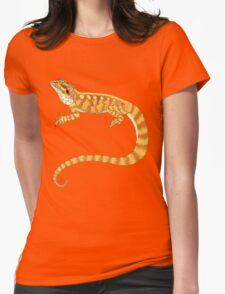 bearded dragon watercolour  Womens Fitted T-Shirt