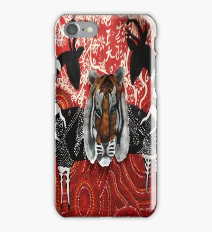 Aboriginal Tiger! iPhone Case/Skin