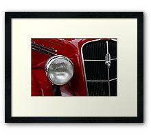 Headlights Plymouth Classic Framed Print