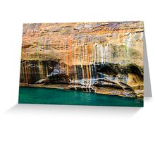Mineral Seeps at Pictured Rocks National Lakeshore Greeting Card