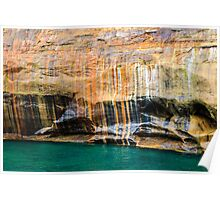 Mineral Seeps at Pictured Rocks National Lakeshore Poster
