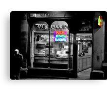 Neon Takeaway Canvas Print