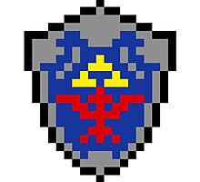 Hylian Shield 8-bit by pardock