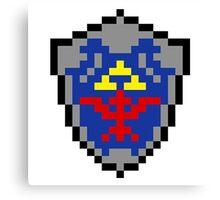 Hylian Shield 8-bit Canvas Print