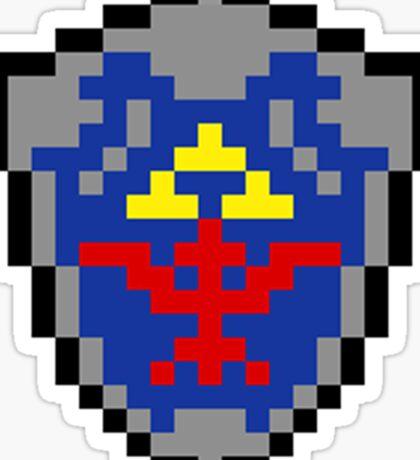 Hylian Shield 8-bit Sticker