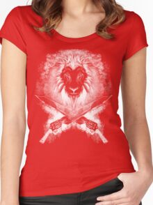 Lion Heart (white) Women's Fitted Scoop T-Shirt
