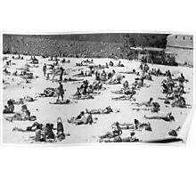 Beach scene, French Riviera Poster