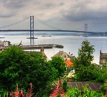 Queensferry and Road Bridge by Tom Gomez