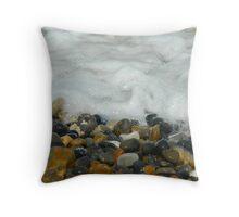 Pebbles & Stones - Cley Beach  Throw Pillow