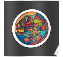 Inner Tubes Mandala - Print w/dark grey Poster