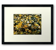 Pebbles & Stones Illuminated - Cley Beach  Framed Print