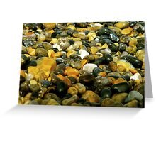 Pebbles & Stones Illuminated - Cley Beach  Greeting Card