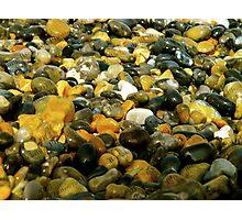 Pebbles & Stones Illuminated - Cley Beach  Photographic Print