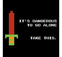 It's dangerous to go alone take this Photographic Print