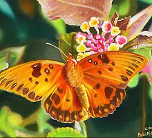 Butterfly and Lantana by Phyllis Beiser