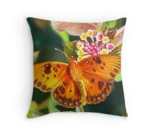 Butterfly and Lantana Throw Pillow