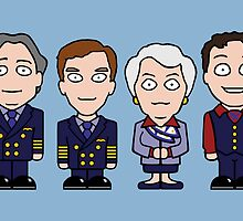 Cabin Pressure mini people (card) by redscharlach