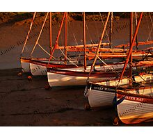 Row Of Boats, Blakeney  Photographic Print