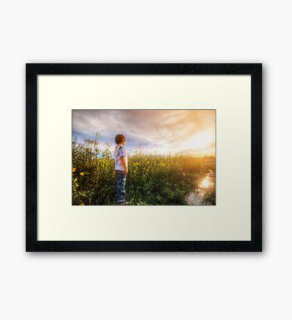 Son Flowers Framed Print