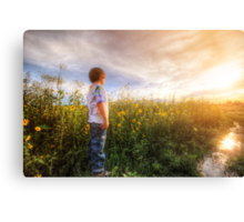 Son Flowers Canvas Print
