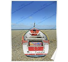 Pasted Journeys - Cley Beach  Poster