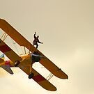 Wing Walker on a Boeing Stearman biplane by Jon Lees