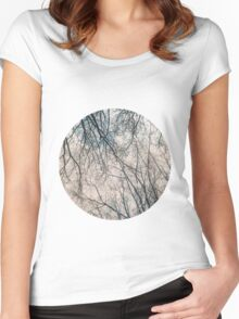 Branches Infrared Nature Women's Fitted Scoop T-Shirt