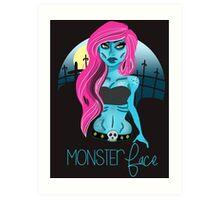 The Undead Girl Art Print