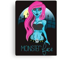 The Undead Girl Canvas Print