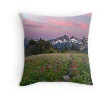 Mazama Ridge Wildflowers Throw Pillow